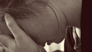 Image of a sad woman crying
